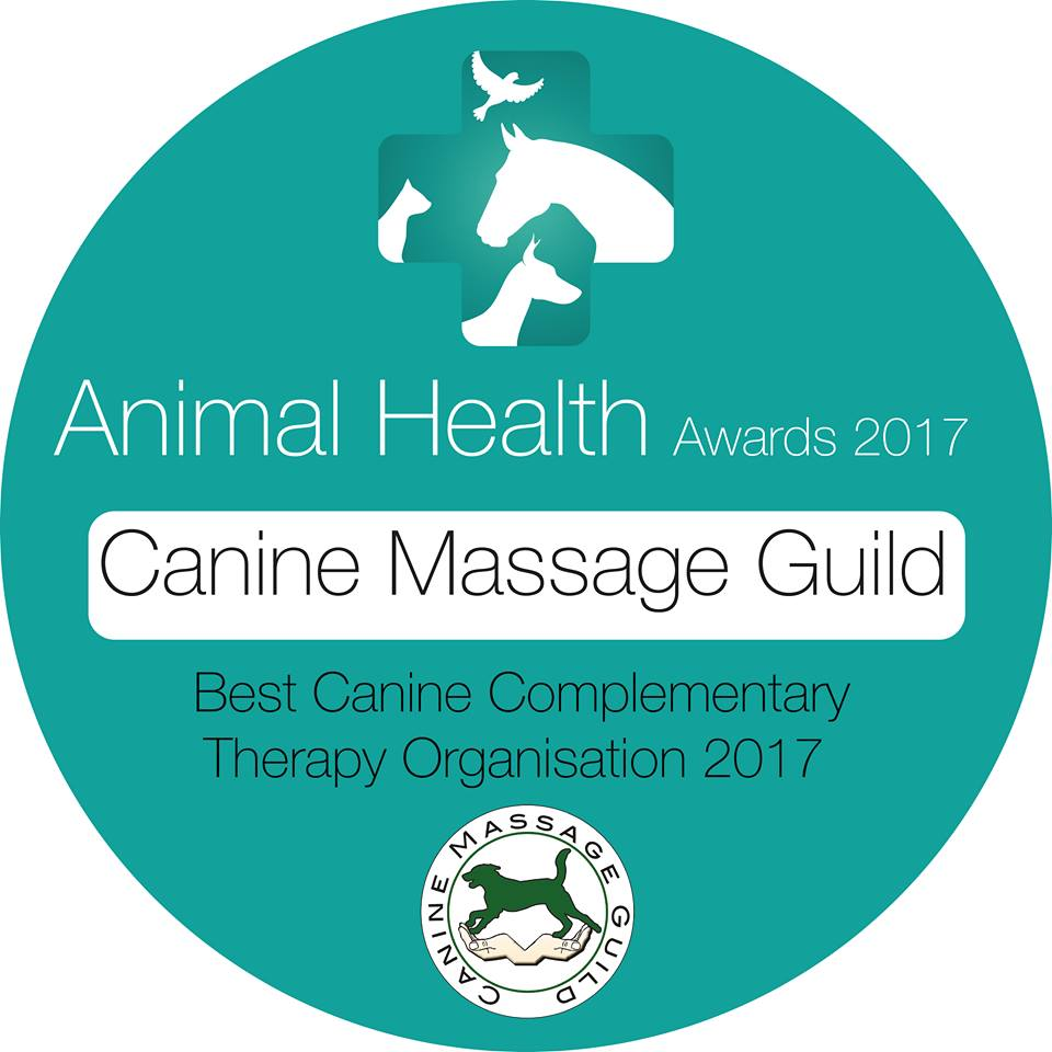 Canine Massage Guild Winner of Best Complementary Therapy Organisation 2017